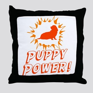 Basset Hound Throw Pillow