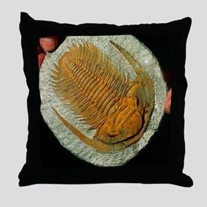 Trilobite fossil Throw Pillow