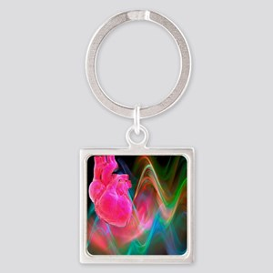 Human heart, artwork Square Keychain