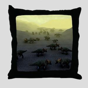 Triceratops dinosaurs Throw Pillow