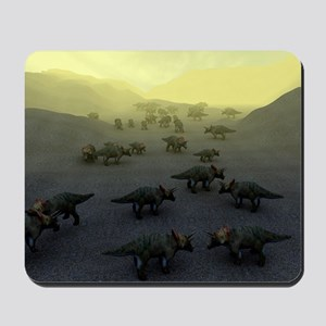 Triceratops dinosaurs Mousepad