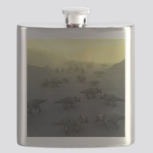 Triceratops dinosaurs Flask