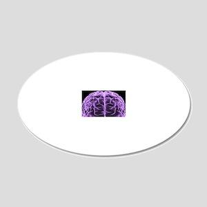 Human brain, computer artwor 20x12 Oval Wall Decal