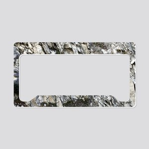 Rock bedding in a cliff License Plate Holder
