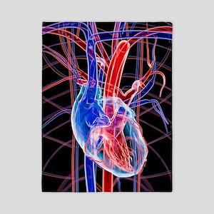 Human heart, artwork Twin Duvet