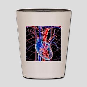 Human heart, artwork Shot Glass