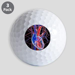 Human heart, artwork Golf Balls