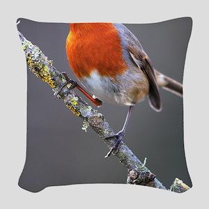 Robin Woven Throw Pillow