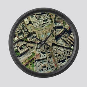 Trafalgar square, aerial photogra Large Wall Clock