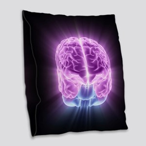 Human brain,computer artwork Burlap Throw Pillow