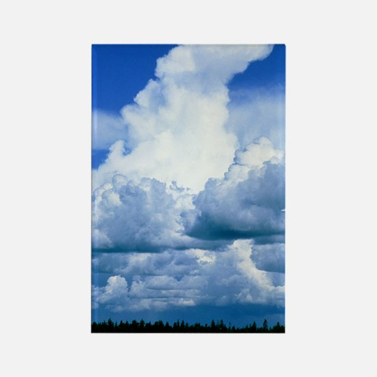 Towering cumulus clouds Rectangle Magnet