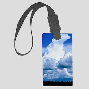 Towering cumulus clouds Large Luggage Tag