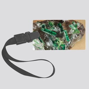 Tourmaline crystals in quartz Large Luggage Tag