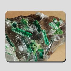 Tourmaline crystals in quartz Mousepad
