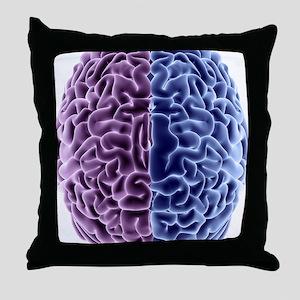Human brain, computer artwork Throw Pillow