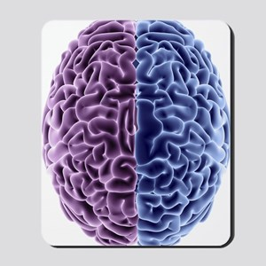 Human brain, computer artwork Mousepad