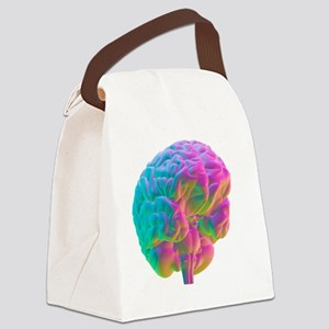 Human brain, computer artwork Canvas Lunch Bag