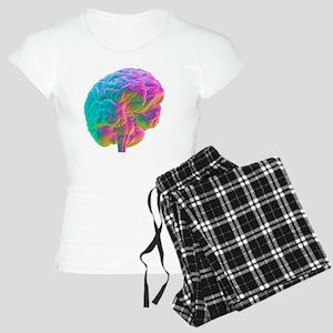 Human brain, computer artwo Women's Light Pajamas