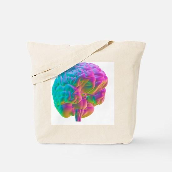 Human brain, computer artwork Tote Bag