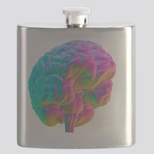 Human brain, computer artwork Flask