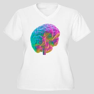 Human brain, comp Women's Plus Size V-Neck T-Shirt
