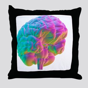 Human brain, computer artwork Throw Pillow