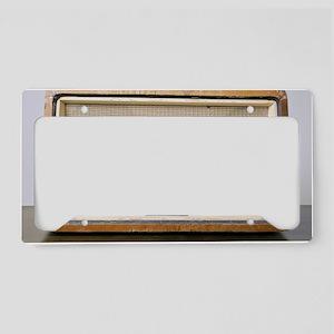 Retro Hi-Fi Minerphon radio r License Plate Holder