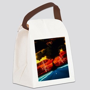 Tornado Canvas Lunch Bag