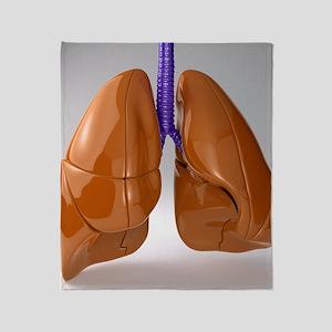 Respiratory system, artwork Throw Blanket