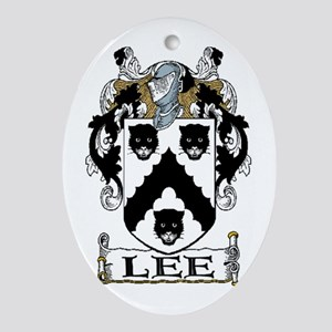 Lee Coat of Arms Oval Ornament