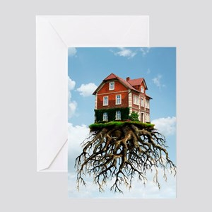Relocating, conceptual image Greeting Card