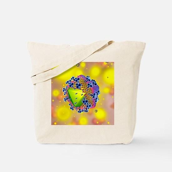 HIV virus particle, artwork Tote Bag