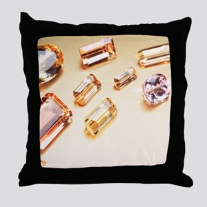 Topaz gemstones Throw Pillow