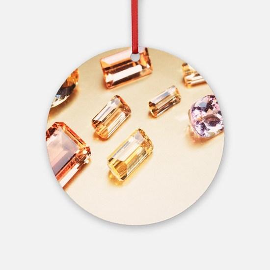 Topaz gemstones Round Ornament