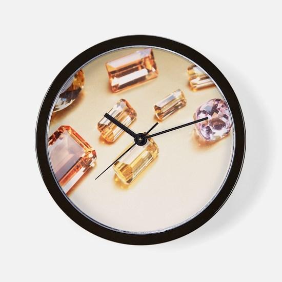 Topaz gemstones Wall Clock