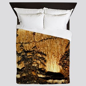 Tiger ironstone with dendritic crystal Queen Duvet