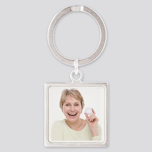 Hormone replacement therapy pills Square Keychain