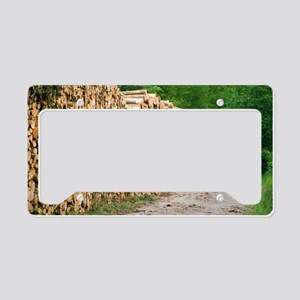 Timber License Plate Holder