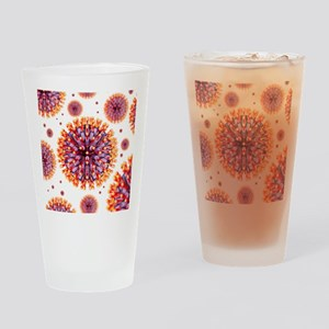 Herpes virus particles, artwork Drinking Glass