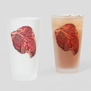 Raw T-bone steak Drinking Glass