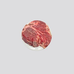 Raw T-bone steak Mini Button