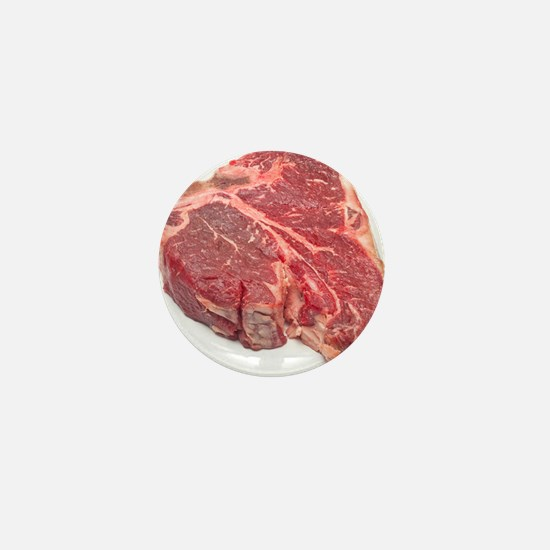 Raw T-bone steak Mini Button