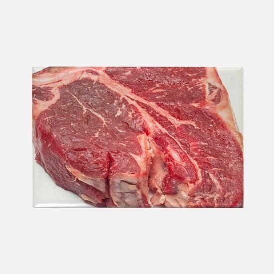 Raw T-bone steak Rectangle Magnet