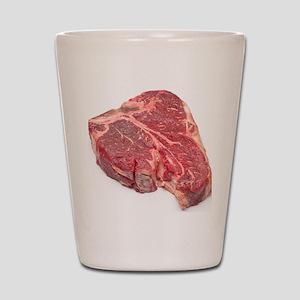 Raw T-bone steak Shot Glass