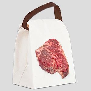 Raw T-bone steak Canvas Lunch Bag