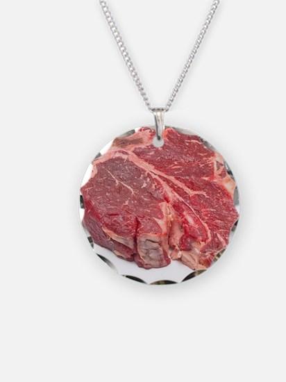 Raw T-bone steak Necklace