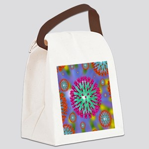 Herpes virus particles, artwork Canvas Lunch Bag