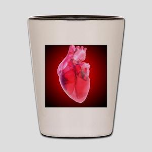Heart of glass, artwork Shot Glass