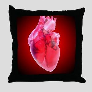 Heart of glass, artwork Throw Pillow