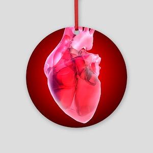 Heart of glass, artwork Round Ornament